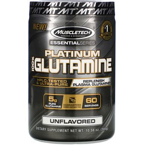 MuscleTech Platinum 100% Глютамин 300 гр