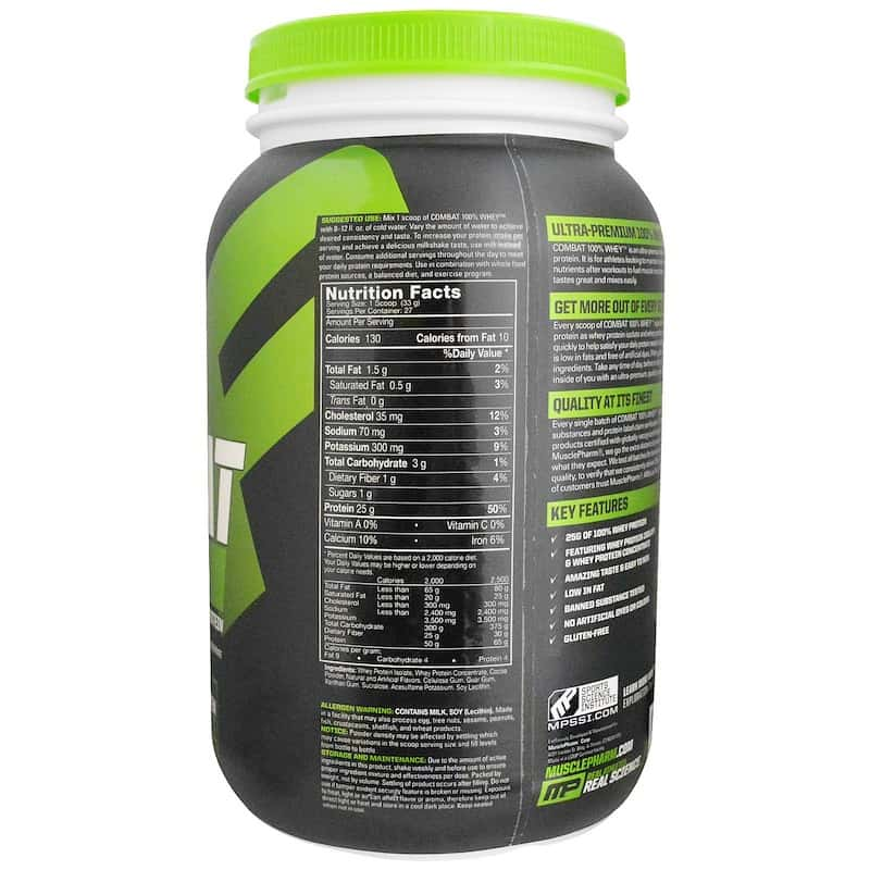 MusclePharm Combat 100% Whey 908 гр