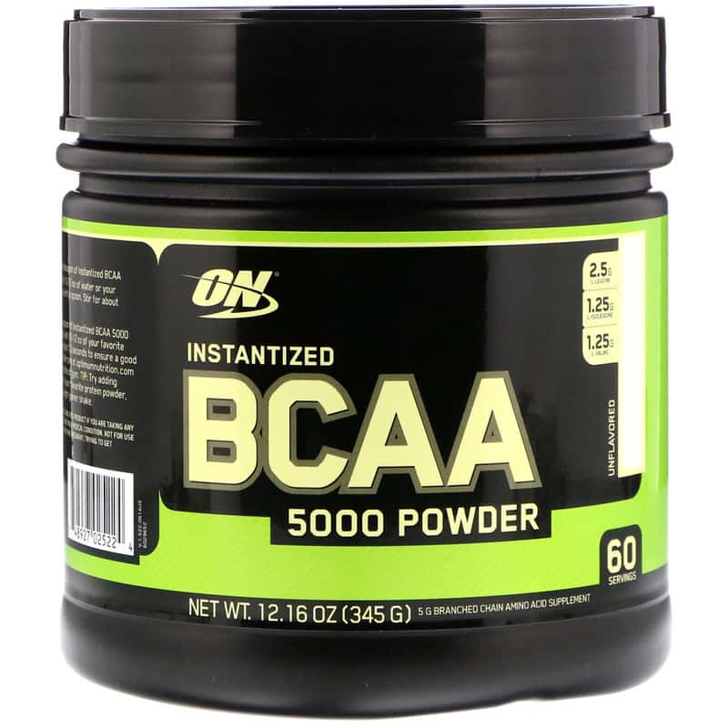 Optimum Nutrition BCAA 5000 Powder 345 гр (Без вкуса)