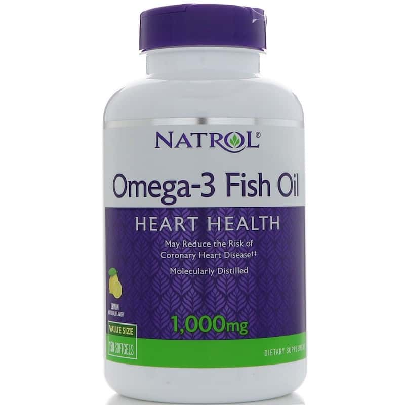 Natrol Omega-3 Fish Oil, Lemon 1000 мг (150 капсул)