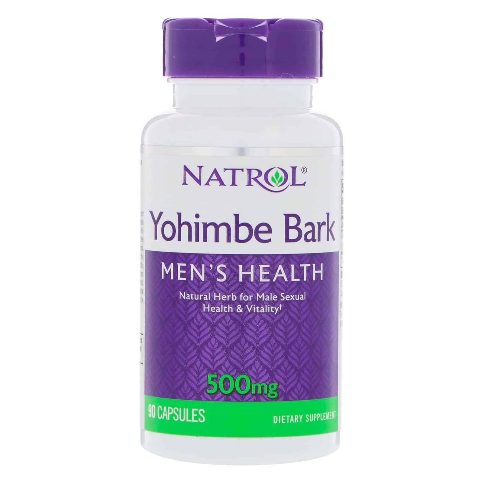 Natrol Кора йохимбе 500 мг (90 капсул)